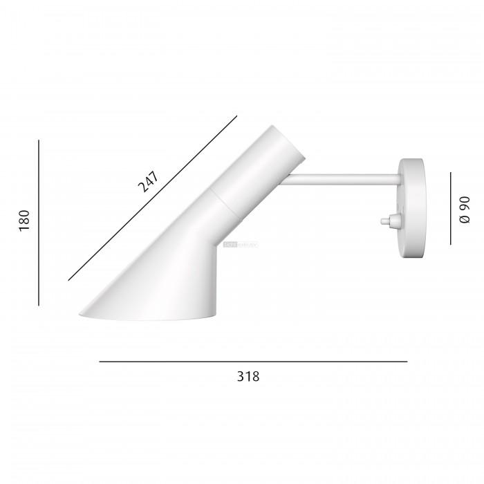 louis poulsen aj wandleuchte designer lampen leuchten mit preisgarantie. Black Bedroom Furniture Sets. Home Design Ideas