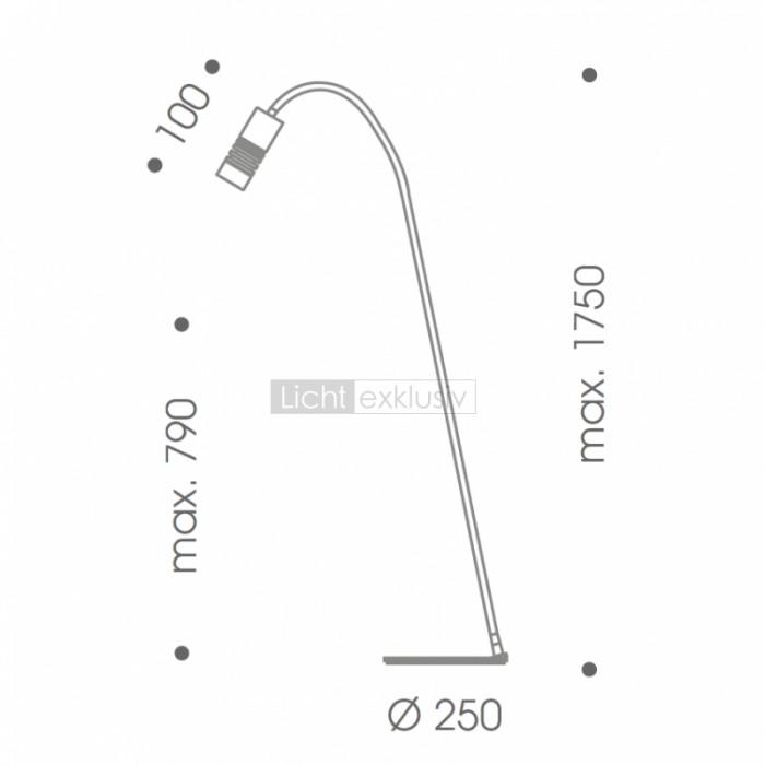 oligo a little bit stehleuchte alu matt designer lampen leuchten mit preisgarantie. Black Bedroom Furniture Sets. Home Design Ideas