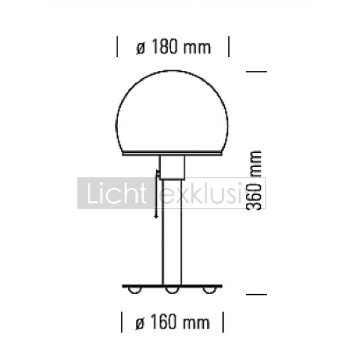 tecnolumen wagenfeld wa24 tischleuchte designer lampen leuchten mit preisgarantie. Black Bedroom Furniture Sets. Home Design Ideas