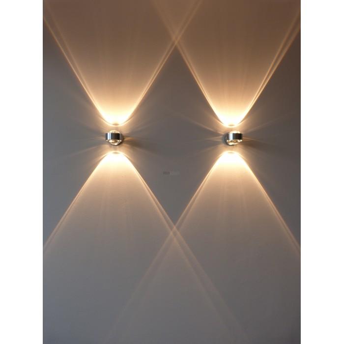 Toplight Puk toplight puk trendy puk wall toplight glas linse chrom with