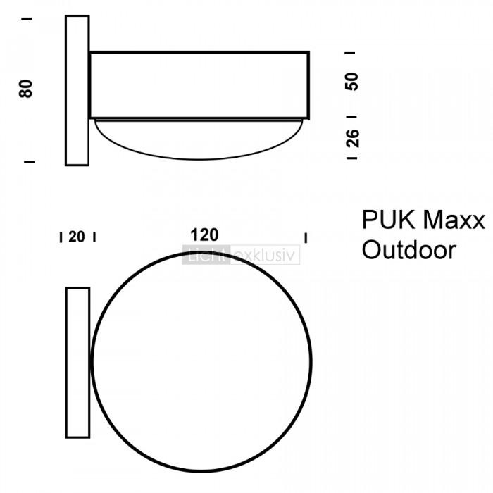 toplight puk maxx wall outdoor designer lampen. Black Bedroom Furniture Sets. Home Design Ideas